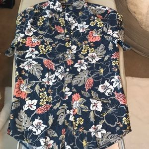 Express vintage floral button up